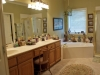 Master bath is large. Separate shower and jetted tub
